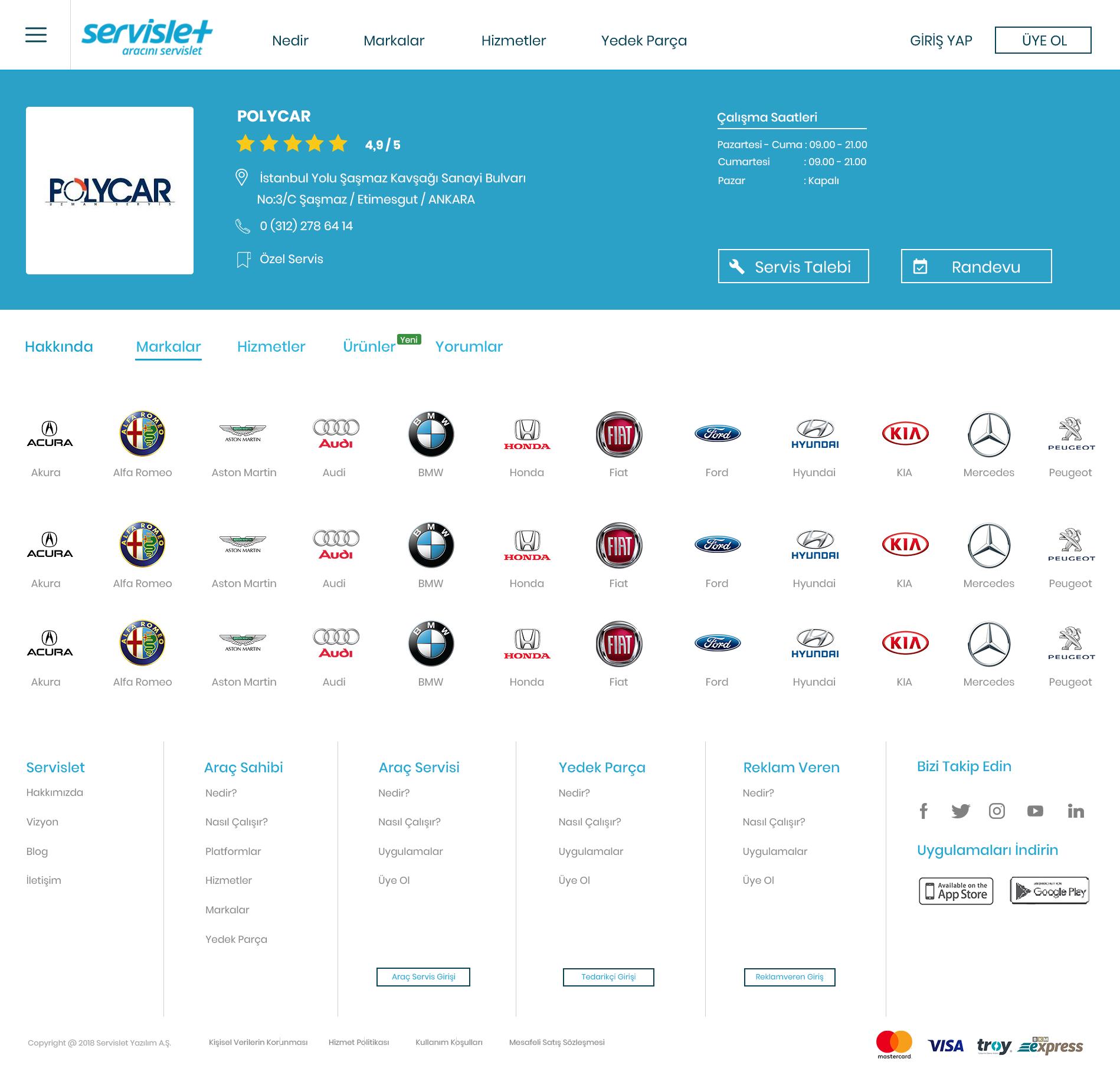 Araç Servisi Profili